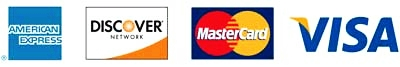 Payment Options AmEx | Discover | Mastercard | Visa